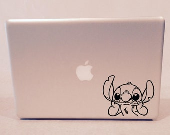 Cute Stitch Leaning on Elbows Vinyl Decal
