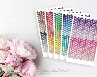 Sticker Set MINI HEXAGON GLITTER