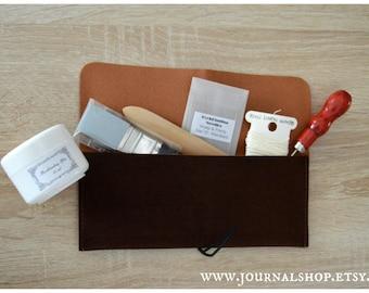 Bookbinding Tool Kit, gift set for bookbinders, essential bookbinding tools, portable bookbinding kit