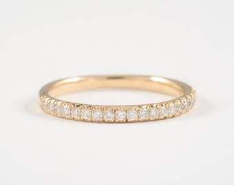 0.25ct diamond wedding band