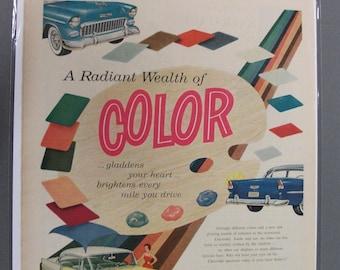 Chev #132   Chevrolet    Magazine Ad -  Sept 1955