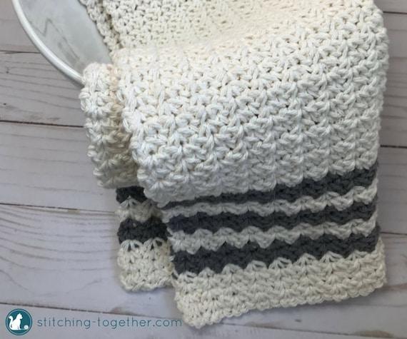 Crochet Farmhouse Dish Towel Pattern   Country Hand Towel Pattern ...