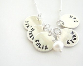 Pretty Little Names in Sterling Silver - PARTY OF FIVE