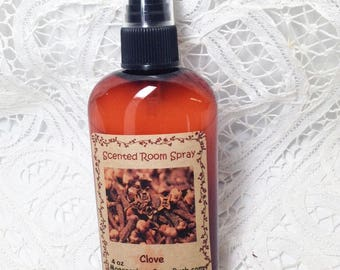 Room Sprays, Clove, room freshener, primitive sprays, teacher gift, 4 oz, Mother's Day Gift, teacher gift, Moeggenborg Sugar Bush