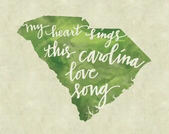 Carolina Love Song print