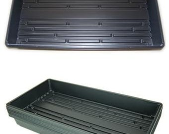 """21"""" x 11"""" Plant Greenhouse Growing Trays - Pack of 10 - No Drain Holes - Grow Wheatgrass, Microgreens, Seedlins & More"""