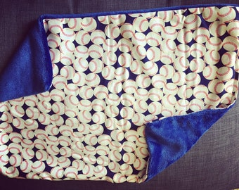 BASEBALL PRINT Lovey Baby Lap Blanket