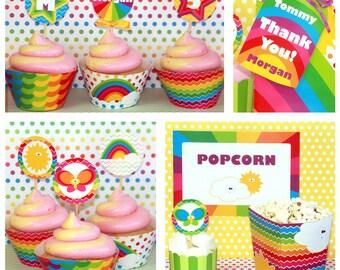 Rainbow Birthday - Rainbow Party - Rainbow Birthday Printables - Rainbow Party Printables - Birthday Decorations (Instant Download)
