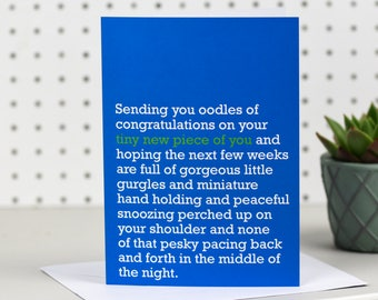 Tiny New Piece Of You - New Baby / Birth Card
