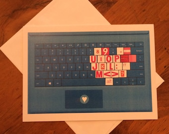 Valentine, collage art, laptop heart