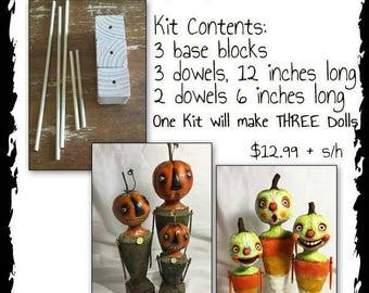 Artful Gathering's Class Wood Block and Dowel kit