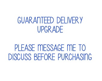 Guaranteed Delivery before 1pm Upgrade | UK ONLY