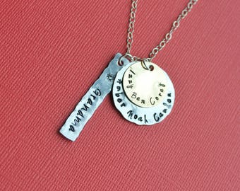Mothers Necklace Grandmother Necklace Grandma Jewelry Childrens Names Necklace Mixed Metal Necklace name necklace