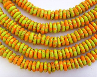 Millefiori beads - recycled glass discs dgbmil08