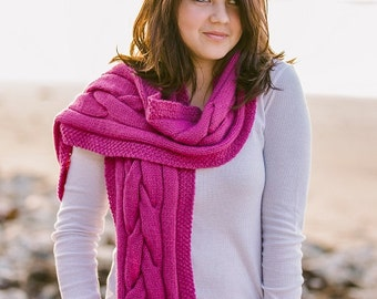 Braided Cable Scarf Knitting Pattern