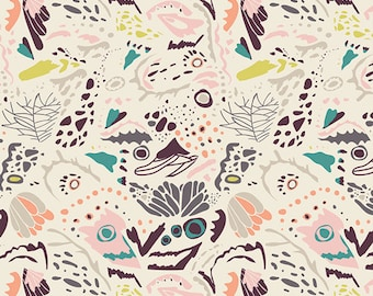 Mimicry Hazel fabric (SOLD in 1/2 YARD INCREMENTS) from Winged by Bonnie Christine (Art Gallery Fabrics)
