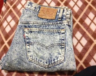 Extreme Rare Vintage Levi's 505 Acid Wash Denim Jeans W30 L34 Made In USA 80's