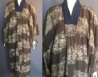 1940s rayon kimono with dragons
