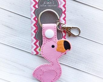 Flamingo Key Chain - Flamingo Keychain - Pink Flamingo - Pink Flamingo Keychain - Flamingos