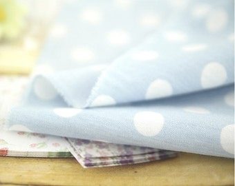 12 mm Dots on Chambray Cotton Fabric - By the Yard 52392 - 201
