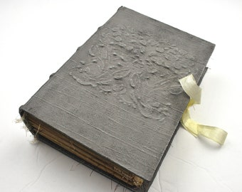 Elegant Junk Journal | Hand Made Journal | Hard Cover Journal | Guest Book | Travel Journal | Scrapbook | Graduation Gift | Birthday Gift