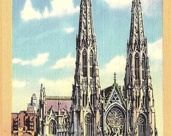 St. Patrick's Cathedral, New York City, New York - Vintage Postcard - Postcard - Unused (BBB)