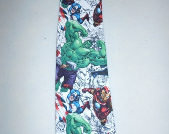 Neck tie  Necktie Iron Man Hulk and Captain America Marvel