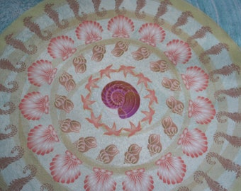 Altar Cloth or Tarot Cloth - Ocean Mandala - Pagan or Wicca - Designed by Wendy Wilson of Magic in Your Living Room