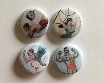 Circus Badges- set of 4