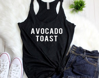 Avocados Fitness Workout Tanks - Avocado Toast - Holy Guacamole - Women's Racerback Tank