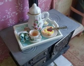 1/12 dollhouse miniature - breakfast tray
