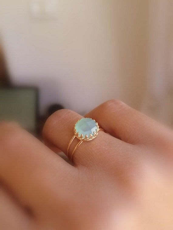 blue jewelry chalcedony ring parra faceted cut rose rings clos