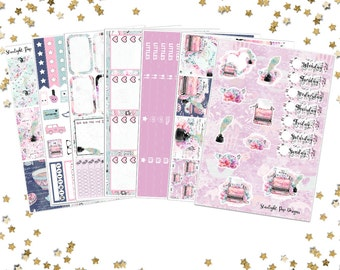 Love Story Sticker Kit - Planner stickers for Erin Condren Life Planner or Recollections Planner (vertical), Valentine's Sticker Kit