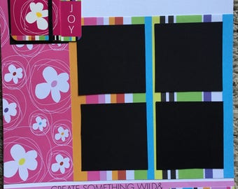 Joy - 12 x 12 Premade Scrapbook Pages