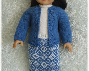 American Girl - Cardigan Top and Skirt (knitting pattern)