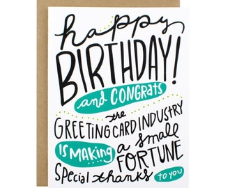Birthday Card - Happy Birthday Card Industry Making Fortune