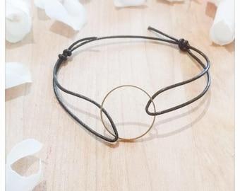 Bracelet minimal black leather