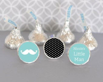 Hershey Kiss Labels / Baby Shower Favor / Stickers for Candy Kisses / Personalized Hershey Kiss Favor Labels (set of 108)
