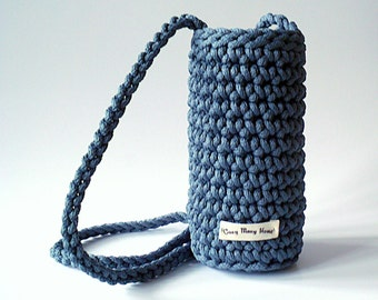 Bottle holder, Bottle holster, Water bottle holder, Crochet bottle holster, Shoulder bag, Shoulder bottle holder, Shoulder holder