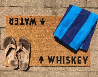 Whiskey / Water™ Door Mat (doormat)