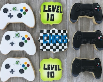 Video Game Controller Cookies