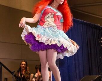 Little Mermaid crop top, Ariel disneybound shirt fairy kei 90's seapunk size small medium S M