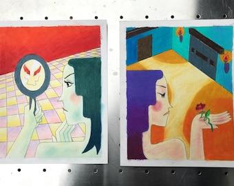 Dream Diptych Pair of Prints