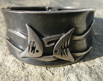 Taxco Silver,Mexican Silver,Taxco Bracelet,Mexican Bracelet,Ledesma Jewelry,Taxco Jewelry,Signed Taxco Bracelet,MCM Taxco Design CuffJewelry