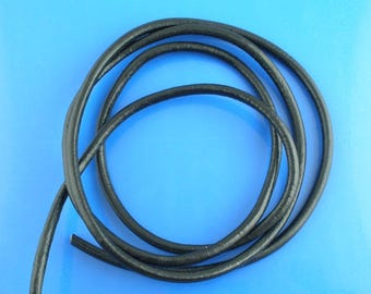 1 m of 4mm black leather cord