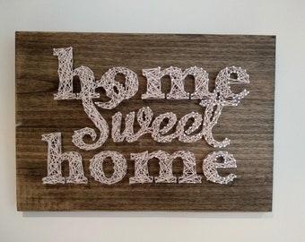 "String Art ""Home Sweet Home"""