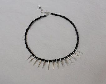 Black spike necklace