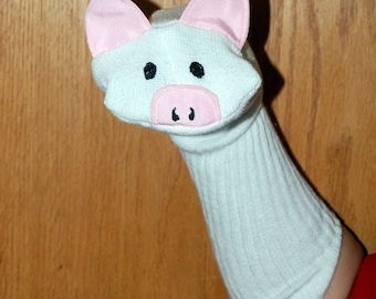 Pig Sock Puppet from Puppets by Margie