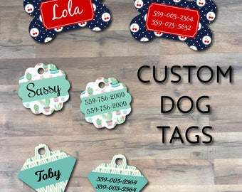 Personalized Pet Tag - Custom Dog ID Tag - Personalized Dog Tag - Custom Made with your Pets Name and Phone Number