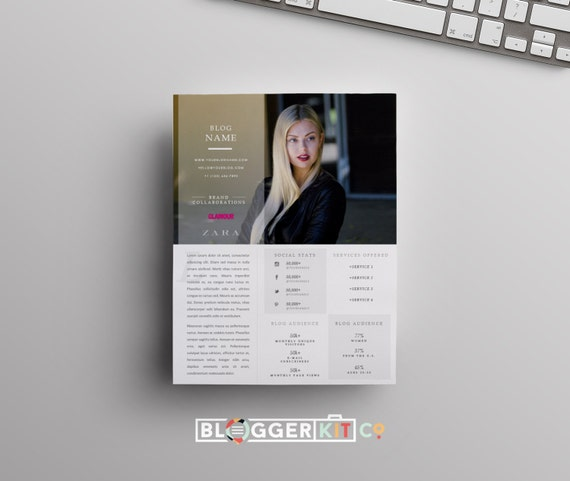 One-Page Media Kit Template | Press Kit Template | Electronic Press ...